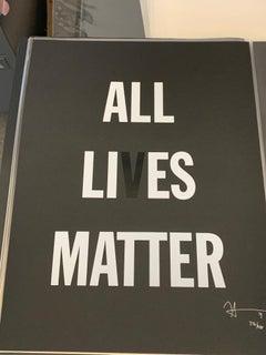 "Hank Willis Thomas ""ALL LIVES MATTER"" Ltd. Ed. Signed & Numbered Print 24""x18"""