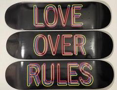 Hank Willis Thomas Love Over Rules Silk Screen Printed Skateboards Set of Three