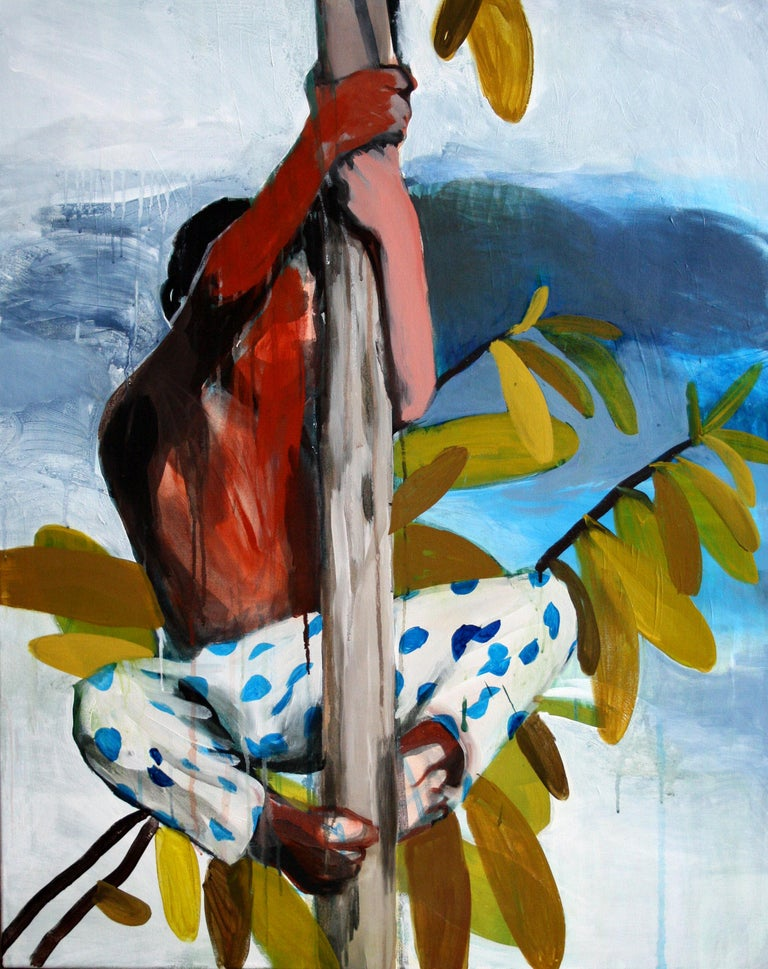 Hanna Ilczyszyn Landscape Painting - Forest People I - Expressionism Painting, Contemporary Figurative Painting