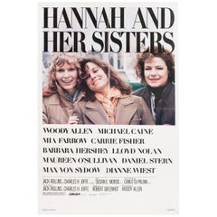 """""""Hannah and Her Sisters"""" 1986 U.S. One Sheet Film Poster"""
