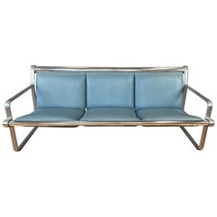 Hannah & Morrison for Knoll Aluminum Three-Seat Sling Sofa 'A', 1971