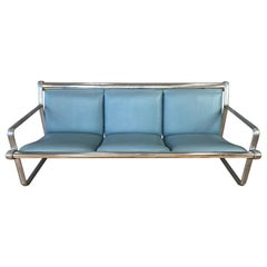 Hannah & Morrison for Knoll Aluminum Three-Seat Sling Sofa 'B', 1971