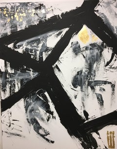 Black and Gold, Painting, Acrylic on Canvas