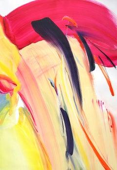Flow like a breeze #1, Oil on paper, 100 x 70cm, 2021