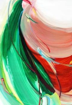 Flow like a breeze #3, Oil on paper, 100 x 70cm, 2021