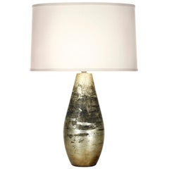 Hannah Table Lamp in Silver Stone Ceramic by CuratedKravet