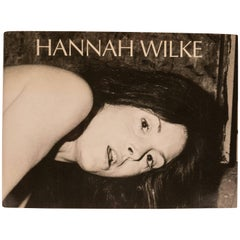 Hannah Wilke Retrospective Book with Drawing and Signature
