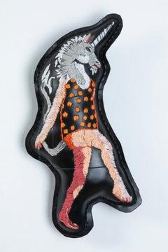 'Not A Hobby Horse', Unique figurative soft wall sculpture