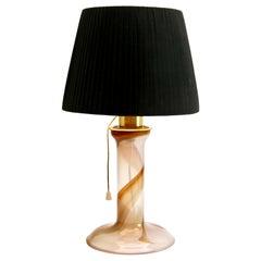 Hannelore Dreutler 'Sweden, 1982' Scandi Table Lamp with Spiral Ribbon Decor