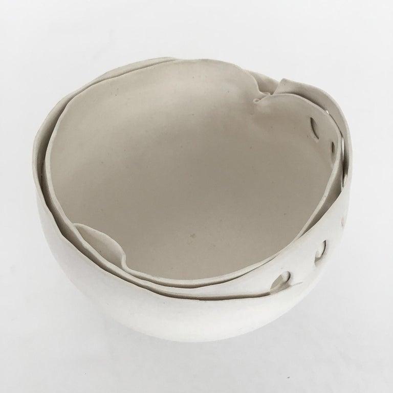 Hannelore Fasciszewski Sculptural Porcelain Bowl For Sale 3