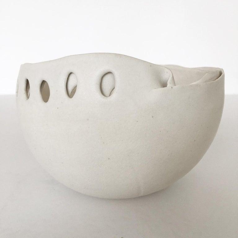 Glazed Hannelore Fasciszewski Sculptural Porcelain Bowl For Sale