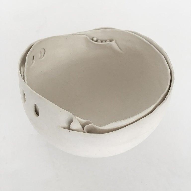 Hannelore Fasciszewski Sculptural Porcelain Bowl For Sale 1