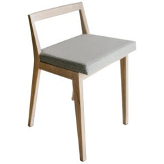 Hanoi Ashwood and Wool Upholstery Stool