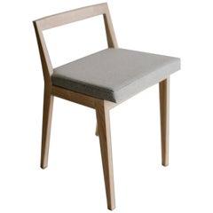 Hanoi ash wood and wool upholstery Stool