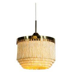Hans Agne Jakobsson Ceiling Lamp Frange Chandelier Model T 601 M AB, 1960s