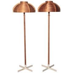 Hans-Agne Jakobsson, a Rare Pair of Floor Lamps, Ab Ellysett, 1960s