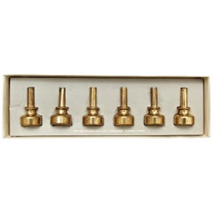 Hans-Agne Jakobsson Brass Candleholders Collection, circa 1960