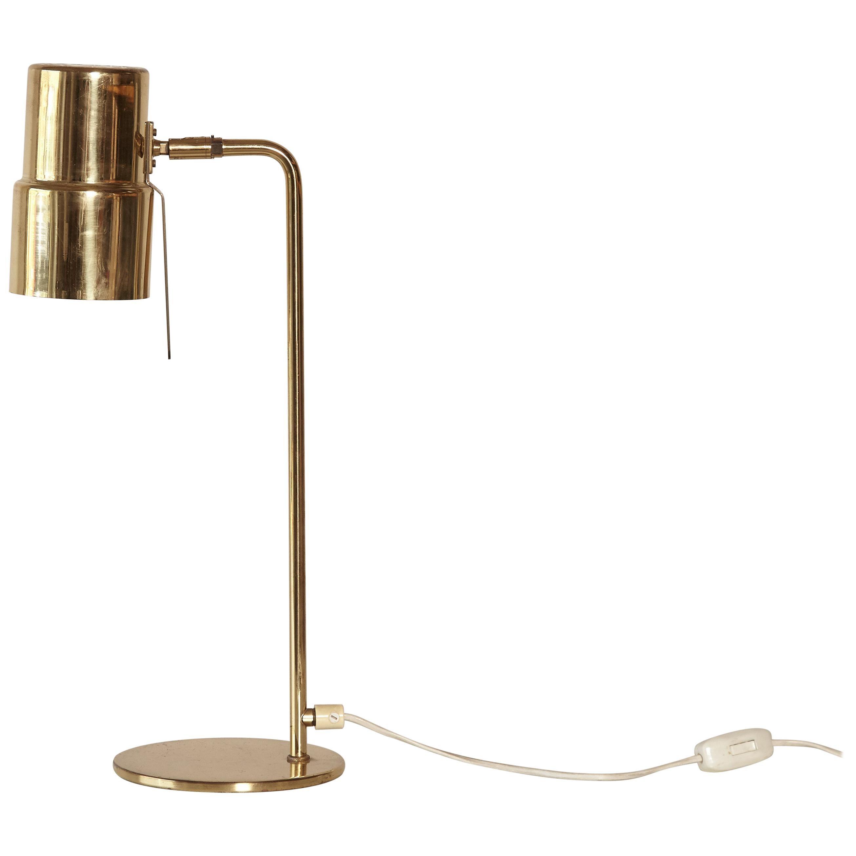 Hans-Agne Jakobsson Brass Model B195/2 Table / Desk Lamp, Sweden, 1960s