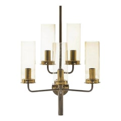 Hans-Agne Jakobsson Brass Wall Sconce with Five Lights