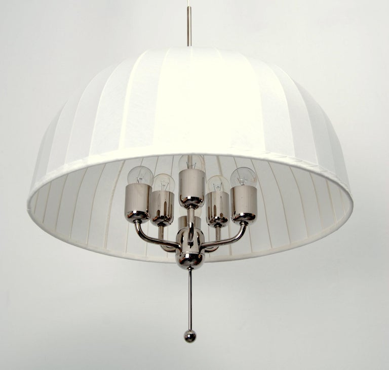 Plated Hans-Agne Jakobsson Carolin Ceiling Pendant, 1960s For Sale