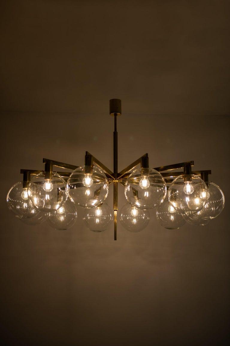 Brass Hans-Agne Jakobsson Ceiling Lamp Model T-348/12 by Hans-Agne Jakobsson AB