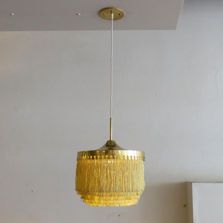 Brass Hans-Agne Jakobsson Ceiling Lamp Model T601, 1960