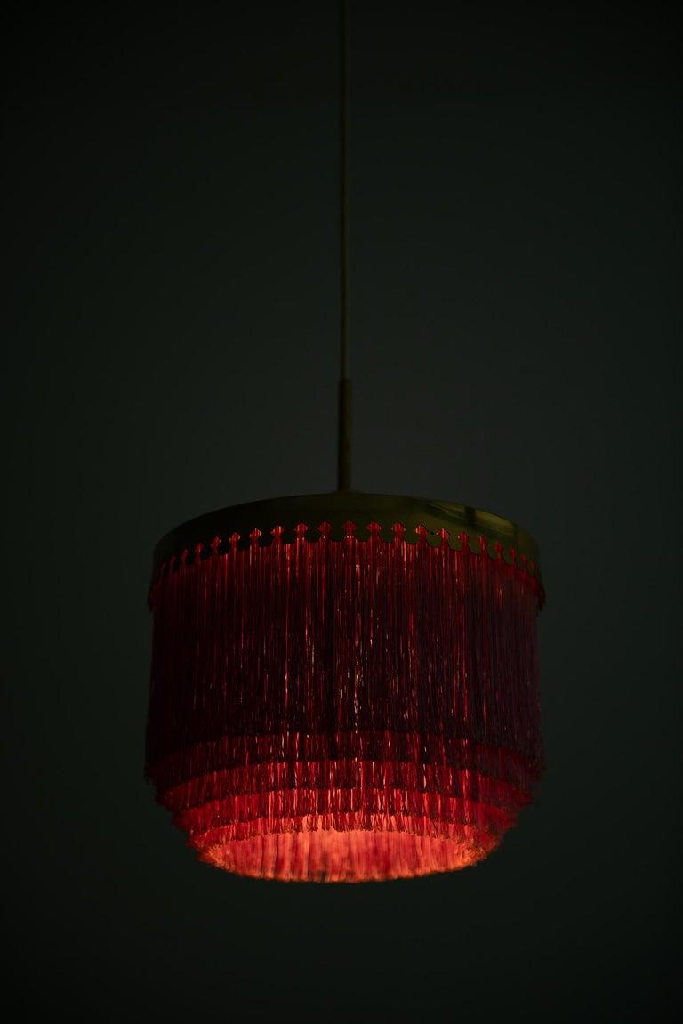 Brass Hans-Agne Jakobsson Ceiling Lamp T-601/M by Hans-Agne Jakobsson AB in Sweden For Sale