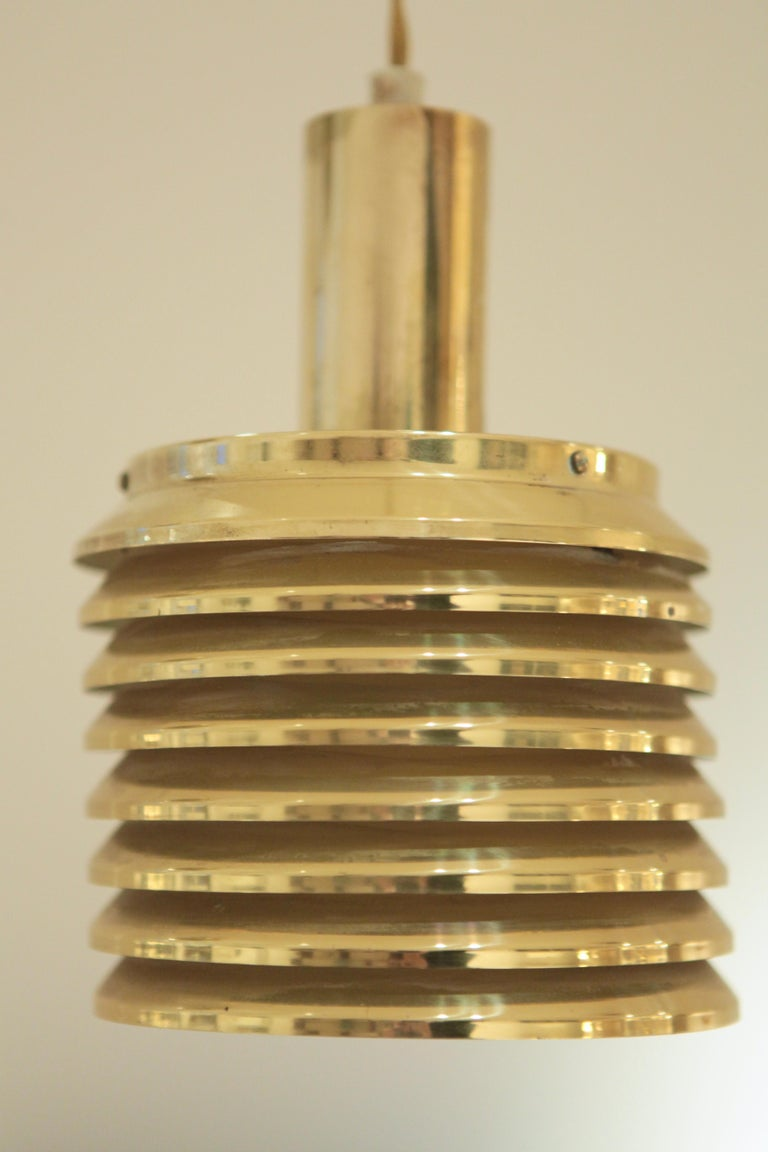 Brass Hans-Agne Jakobsson Ceiling Lights Model T-642, Sweden, 1950s For Sale