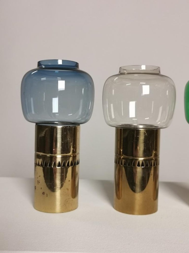 Brass Hans-Agne Jakobsson, Collection of 5 Candleholders