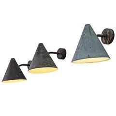Hans-Agne Jakobsson Copper Wall Lights