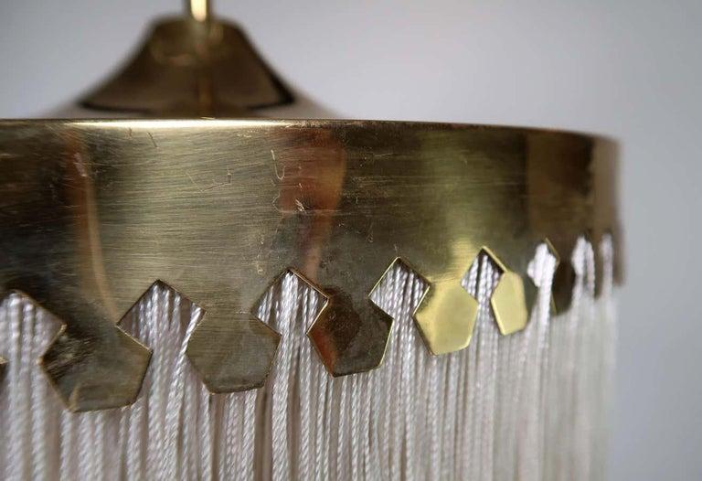 Mid-Century Modern Hans-Agne Jakobsson Cream Silk Fringe Pendant Model T601 For Sale