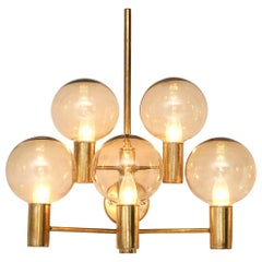 Hans-Agne Jakobsson Five Armed Brass Wall Light