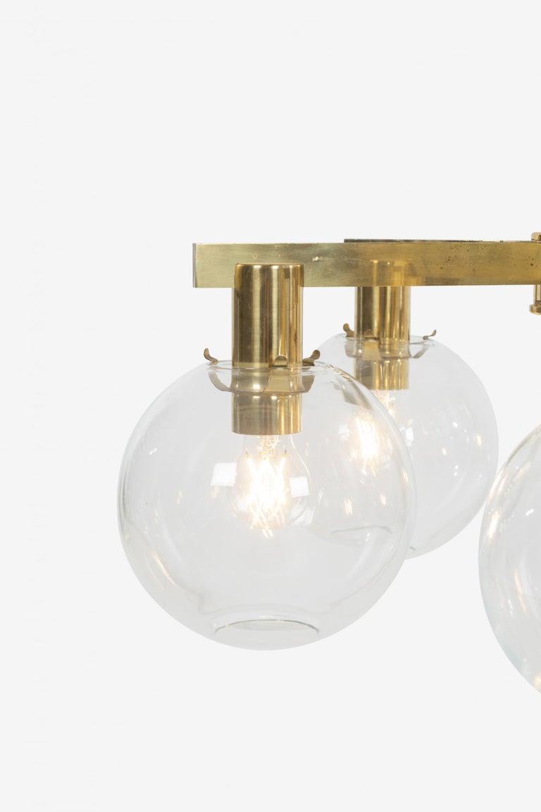 Mid-20th Century Hans-Agne Jakobsson Five Globe Pastoral Chandelier For Sale