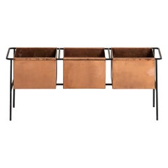 Hans-Agne Jakobsson Flower Table in Iron and Copper
