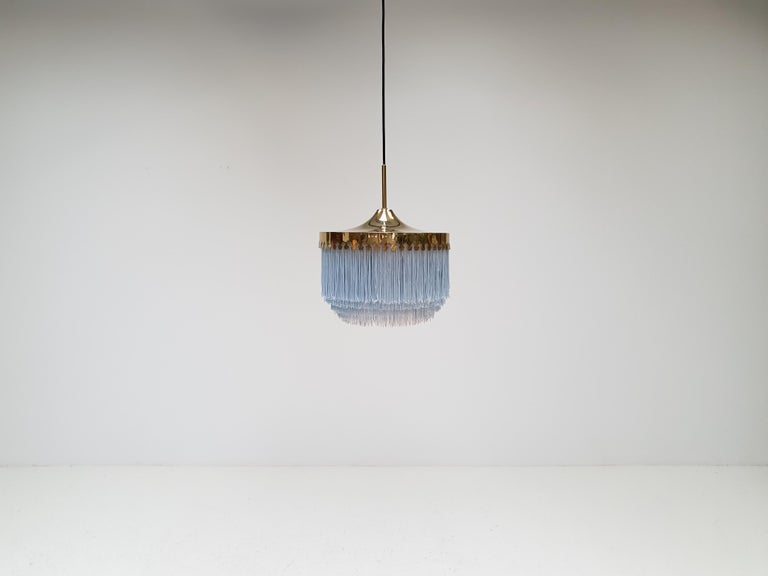 Hans-Agne Jakobsson for Markaryd Model T601/M Pendant in Light Blue, 1960s For Sale 3