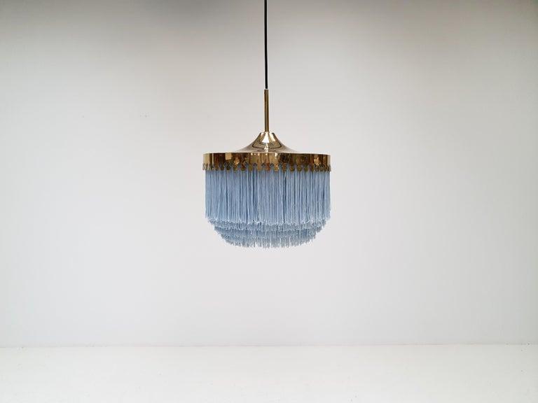Scandinavian Modern Hans-Agne Jakobsson for Markaryd Model T601/M Pendant in Light Blue, 1960s For Sale