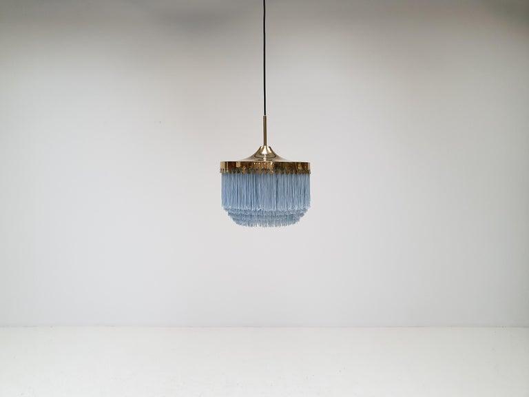 Swedish Hans-Agne Jakobsson for Markaryd Model T601/M Pendant in Light Blue, 1960s For Sale