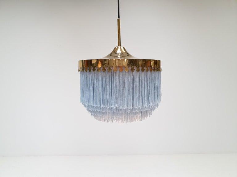 Hans-Agne Jakobsson for Markaryd Model T601/M Pendant in Light Blue, 1960s For Sale 1