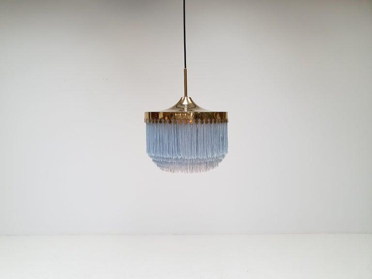 Hans-Agne Jakobsson for Markaryd Model T601/M Pendant in Light Blue, 1960s For Sale 2