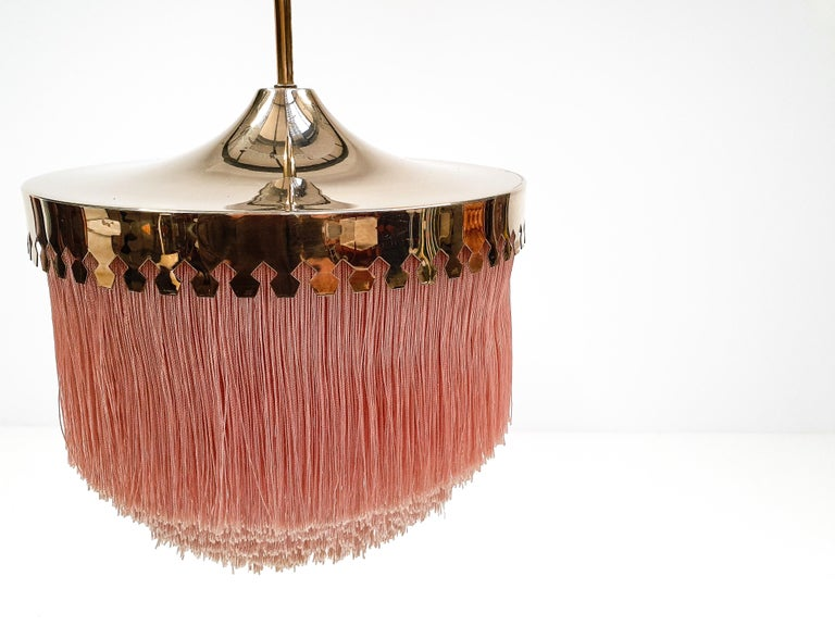 Hans-Agne Jakobsson for Markaryd Model T601/M Pendant in Pink, 1960s For Sale 3