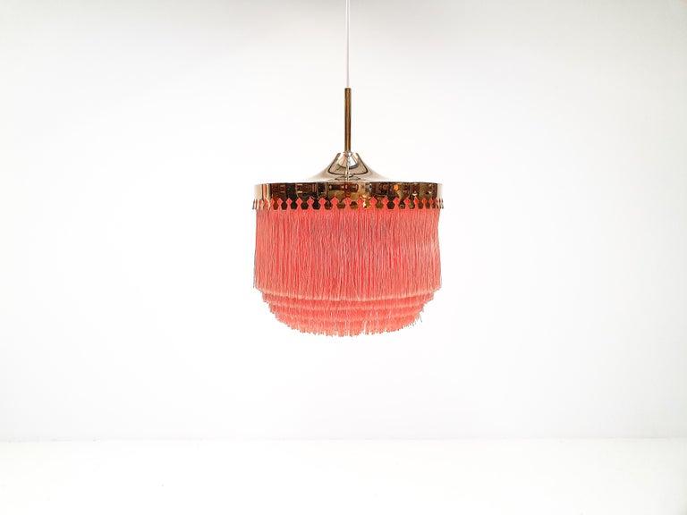 Scandinavian Modern Hans-Agne Jakobsson for Markaryd Model T601/M Pendant in Pink, 1960s For Sale