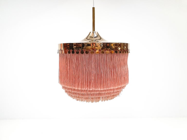 Hans-Agne Jakobsson for Markaryd Model T601/M Pendant in Pink, 1960s In Good Condition For Sale In London Road, Baldock, Hertfordshire