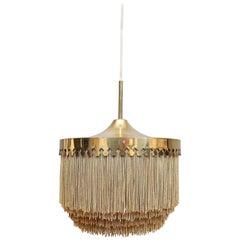 Hans Agne Jakobsson Fringe Ceiling / Pendant Lamp, for Markaryd, Sweden, 1960s