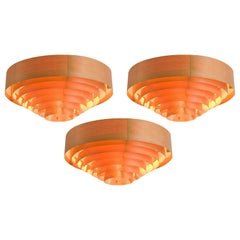 Hans-Agne Jakobsson Large Pine Ceiling Lights