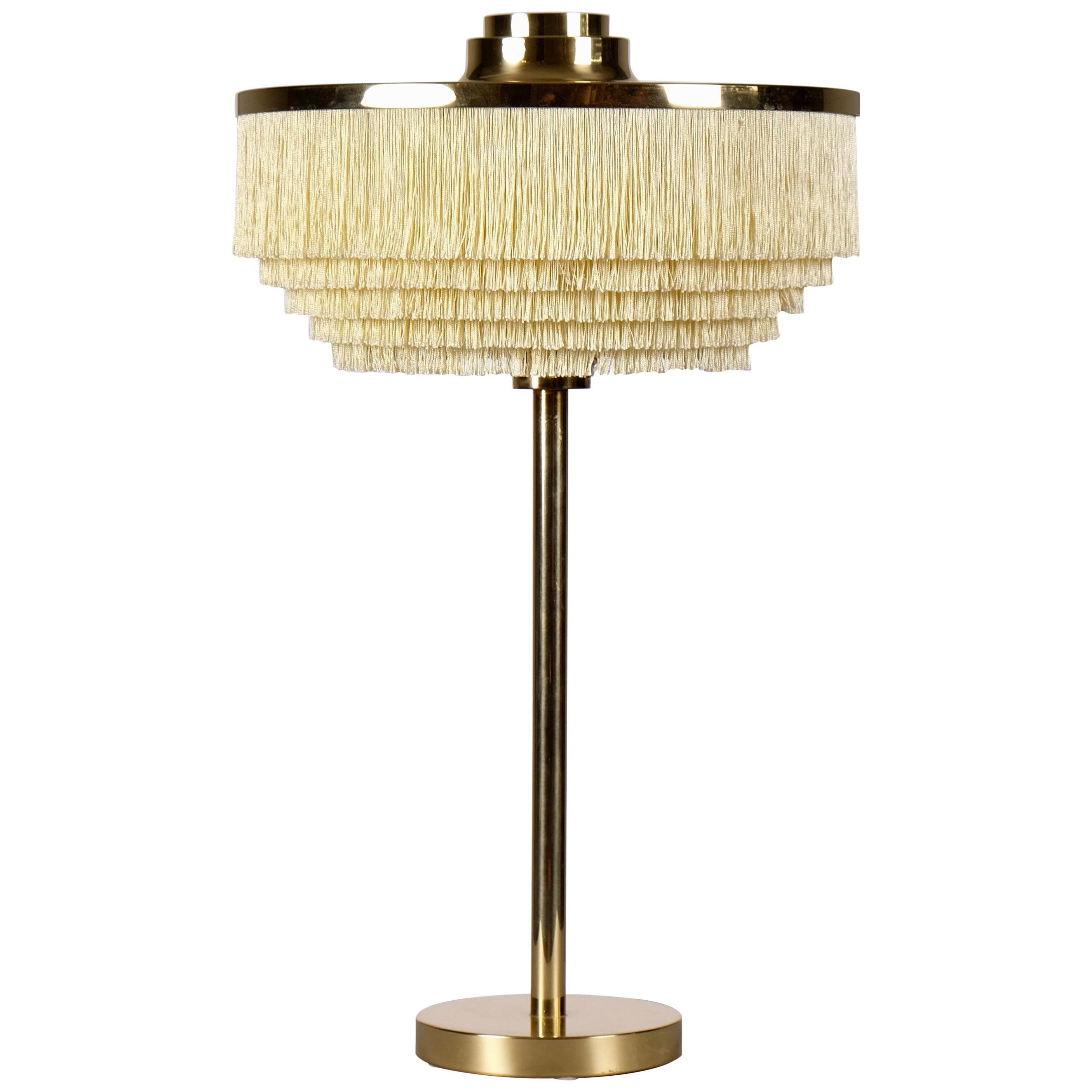 Hans-Agne Jakobsson Model B-138 Brass Table Lamp, 1960s