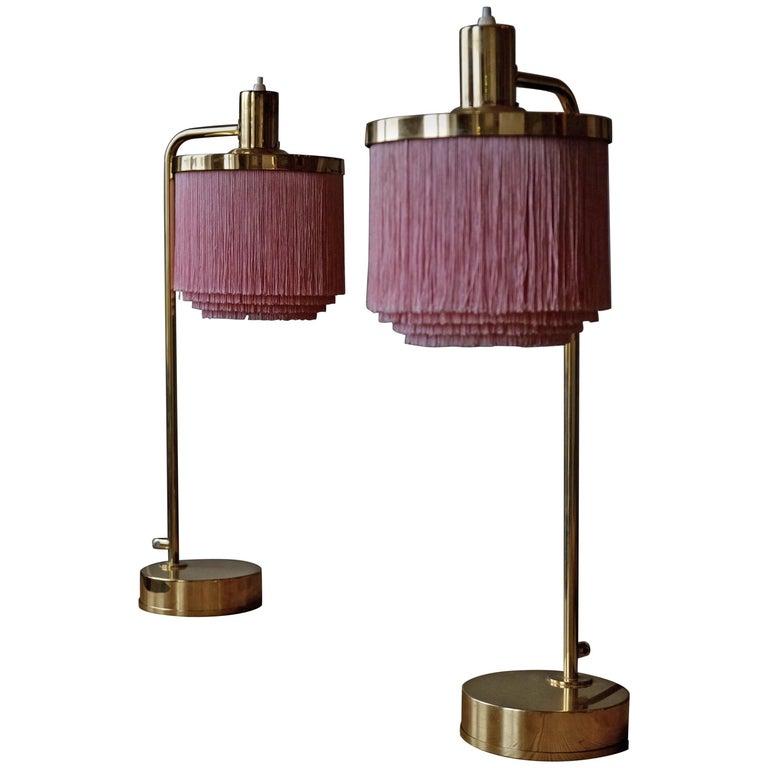 Hans-Agne Jakobsson Model B-140 Brass Table Lamps, 1960s