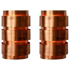 Hans-Agne Jakobsson Model V-155 Copper Sconces for Markaryd, Sweden