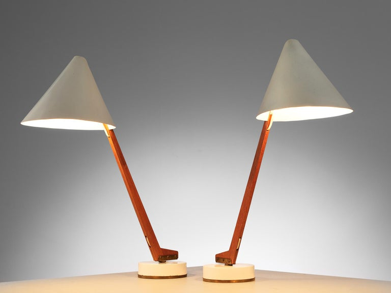 Swedish Hans Agne Jakobsson Pair of 'B54' Table Lamps, circa 1955 For Sale