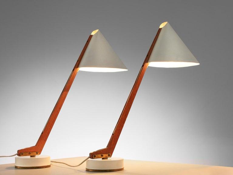 Scandinavian Modern Hans Agne Jakobsson Pair of 'B54' Table Lamps For Sale
