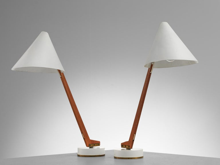 Hans Agne Jakobsson Pair of 'B54' Table Lamps For Sale 1